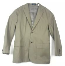 Tan  Soft Weathered Chino Type Fabric Jacket NEW Polo Ralph Lauren Sportcoat