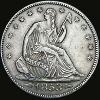1853 Seated Liberty Half Dollar --- STUNNING --- #V911