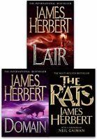 James Herbert The Rats Trilogy Collection 3 Books Set Pack Domain, Lair, The Rat