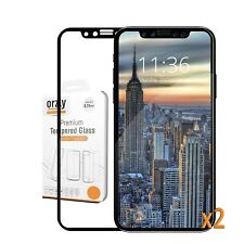 iPhone X Screen Protector [x2] Orzly iPhone X / iPhone 10 Pro-Fit Tempered Gl...