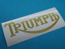 Triumph GB Schriftzug Aufkleber Abziehbild  49mm x 128mm Gross Gold Neu