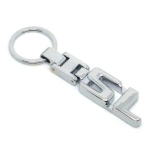 For Mercedes Benz SL450 SL Series Metal Keychain Chrome Keyring Key Chain Ring