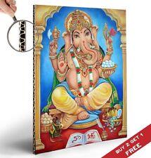 LORD GANESH - ELEPHANT HEADED INDIAN GOD Poster A4 30x21cm Home Art Ethnic Print