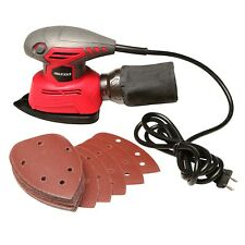 Great Working Tools Mouse Detail Sander Orbital Palm Sander, Dust Bag, Sandpaper