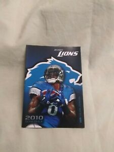 2010 Detroit Lions NFL Calvin Johnson cover Ticketmaster pocket schedule