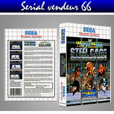 MASTER SYSTEM : STEEL CAGE CHALLENGE. PRINTED + CASE. NO GAME. MULTILINGUAL.