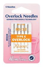 Size 80/12 Sewing Machine Needle - Klasse Overlock Needles Type E - Pack 5