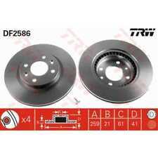 TRW 2x Bremsscheiben belüftet lackiert schwarz DF2586