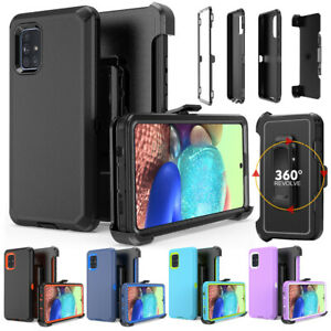 For Samsung Galaxy A51 A71 5G Case Shockproof Rugged Hard Cover+Stand Belt Clip