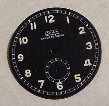 GEWA military type watch dial, Anker 15 Steine, 31 mm diameter.