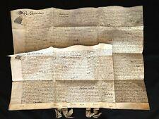 SEALED DOUBLE VELLUM DOCUMENT 1680