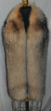 Real Crystal Fox Fur Scarf Boa Wrap Stole Fling New Made in the USA