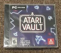 ATARI Vault: 100 Arcade & ATARI 2600 Classics (PC Video Game, 2018) New Sealed!