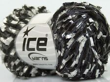 Black & White Butterfly Ribbon Yarn 50gr 164yds - Ice 43145 -Great for Necklaces