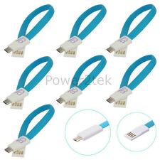 7 X Magnete Piatto Micro USB cavo caricabatteria per sincronizzazione dati per Samsung Galaxy S1 S2 S6