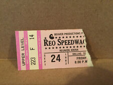 Reo Speedwagon Concert Tickets Stub 9-24-1982 Dallas TX
