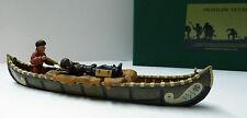 Frontline Figures, Indian Wars, Kanu mit 2 Trapper, Canoe, Maßstab 1/32, IWC7