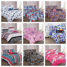 TWIN 6PC BEDDING COMFORTER SET BED DRESSING ASSORTED DESIGNS AND COLORS ALL AGES