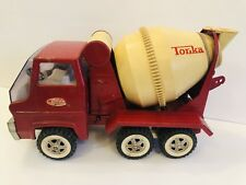 Vintage Red TONKA Pressed Steel Cement Mixer Truck