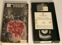 French Francais VHS tape Retour des Morts Vivants II 2 + Jacket  SEE DESCRIPTION
