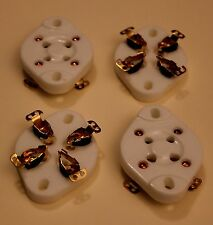 4 SUPPORTS 4 BROCHES DORES POUR CHASSIS