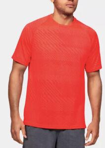 Under Armour Heatgear Crew Neck T Shirt Mens Size 3XL Orange 1351737-608
