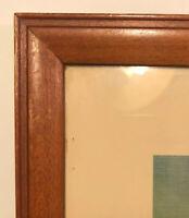 "Vintage Wood Frame Orig Glass 15.25"" X 11.25""  Rocky Mountain National Park"