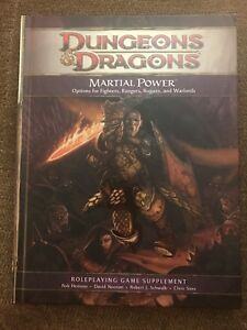 Dungeons & Dragons 4th Edition Martial Power Game Supplement