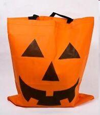 12 Big Halloween Gift Favor Party Swag BAgs or decor Jack Lantern Pumpkin Orange