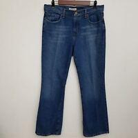 Levis Womens 515 Boot Cut Jeans 10 Short Dark Wash Cotton Blend Stretch