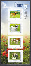 FRANCE 2020 Collector Adhesive Dans les prés pets horse cow sheep pig MNH** Luxe