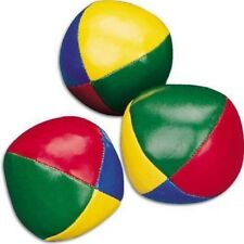 Set of 6 Juggling Balls Circus Clown Coloured Learn Juggle Toy Game Soft Box020