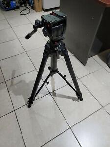 Manfrotto 475B Heavy Duty Big Tall Tripod w/ 501HDV Head Photo Video Camera