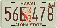 Magnum PI Tom Selleck 1980 Hawaii License Plates 3 piece collection