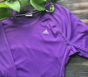 Adidas Climacool Purple Long Sleeve Pullover Athletic Womens shirt top size M