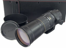 Canon EOS 170-500mm SIGMA APO 5-6.3 + Cappuccio + Custodia