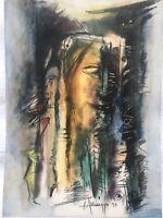 Painting by Arnaldo Larrinaga, Untitled, 1973, original signed