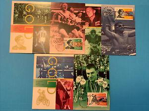 1996 - CENTENARY OF MODERN OLYMPICS  -  (3v loose) Maxi Card set