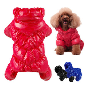 Waterproof Dog Clothes Thick Cotton Padded Dog Jacket Coat Vest Jumpsuit Apparel