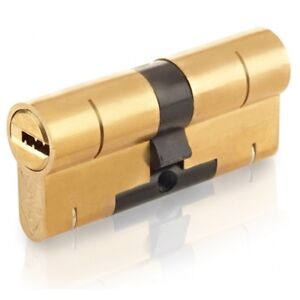 Yale Superior 1 Star Double Euro Cylinder Keyed Different 100mm 45/55 Brass BS