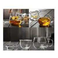Heat-Resistant Transparent Glass Cup Tea Cup with Lid Infuser Filter 350ml