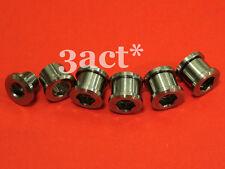 10 pcs Gr.5 Titanium/Ti Bolt & Nut for Crankset Chainring - 5 Bolts & 5 Nuts