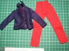 sindy vintage red trousers and jet setter? blue top