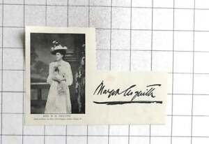 1895 Signature And Likeness Of Mrs HH Asquith