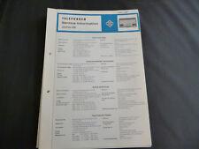 Original Service Manual  Telefunken Jubilate 106