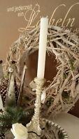 Kerzenständer Kerzenleuchter  Kerzenhalter Antik Silber Shabby Vintage 20cm