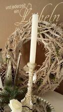 Candle Holder Candelabra Antique Silver Shabby Vintage 20cm