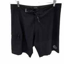 "Da Hui Mens Size 36 Black Hybrid Surf 10"" Board Shorts Mens"