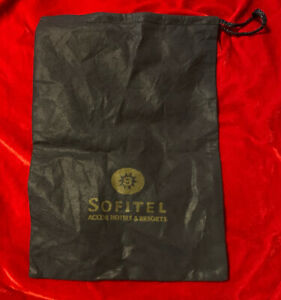 AUTHENTIC SOFITEL DESIGNER DUST BAG WITH DRAWSTRING BAG SHOES 👠 BLUE