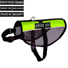 Reflective Service Dog Mesh Harness Vest with Double Sides Patches Adjustable